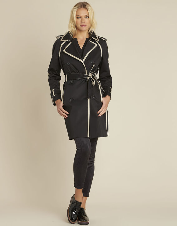 Eloise black braided trenchcoat PhotoZ | 1-2-3