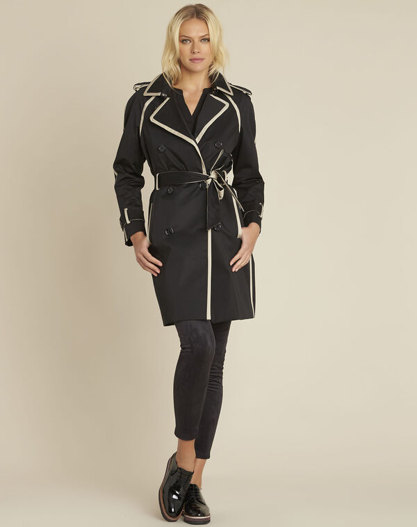 Eloise black braided trenchcoat (1) - 1-2-3