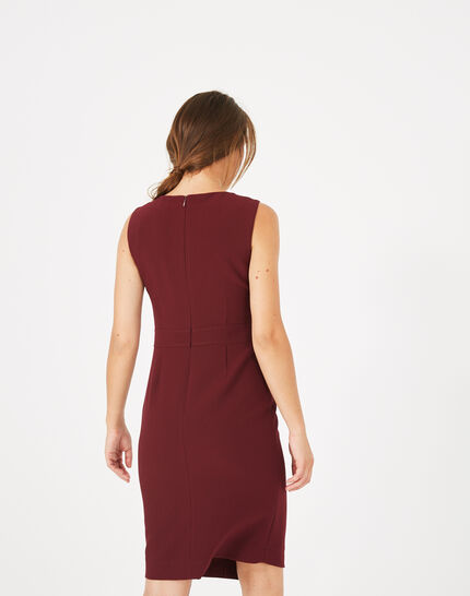 Robe rouge compacte Amy (5) - 1-2-3