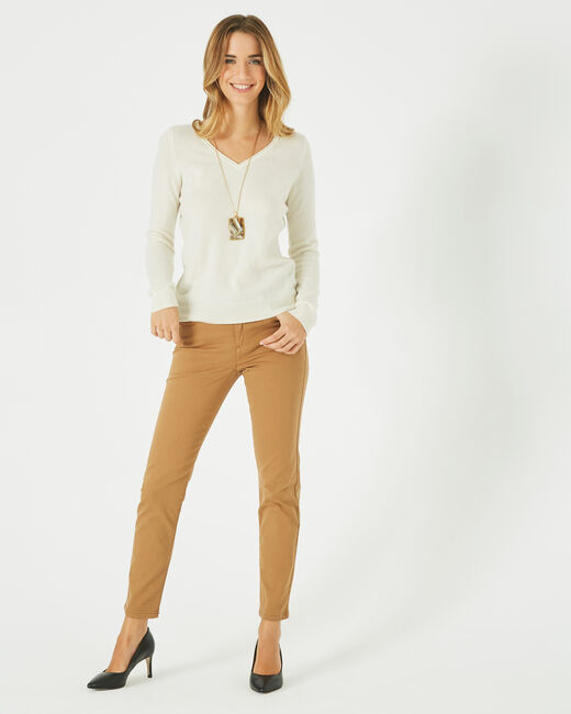 Oliver 2 ⅞-length caramel trousers (1) - 1-2-3