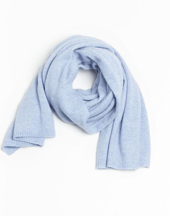 Felicia azure cashmere scarf PhotoZ | 1-2-3