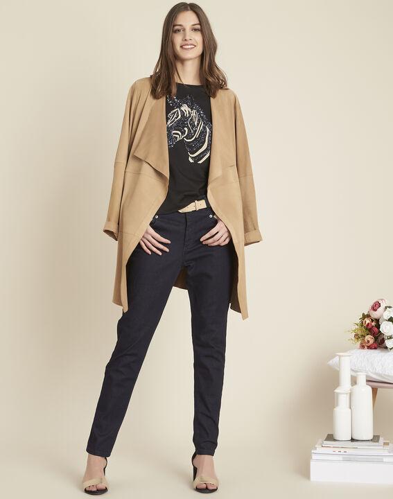 Ondersteunende slim fit 7/8-jeans met onbewerkt effect Honore (2) - 37653