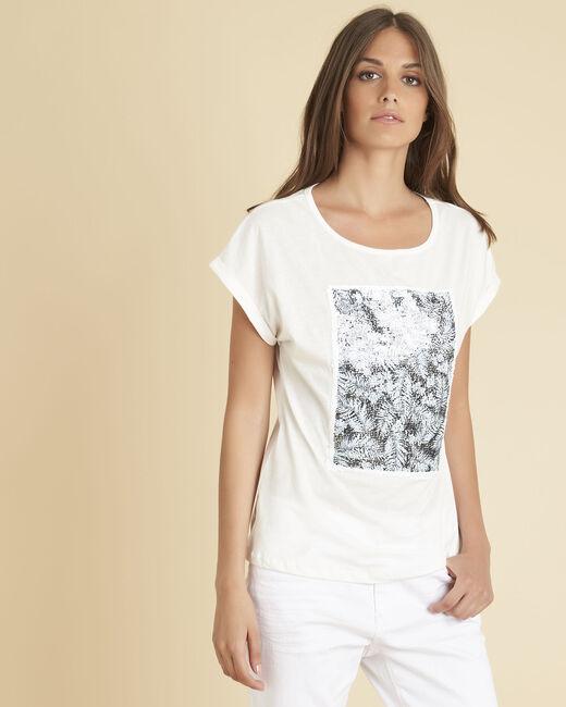 Tee-shirt blanc sequins réversibles Eleonore (2) - 1-2-3