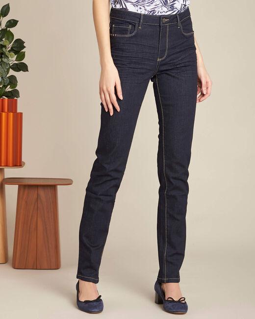 Marineblaue gerade Jeans normale Leibhöhe Vivienne (2) - 1-2-3