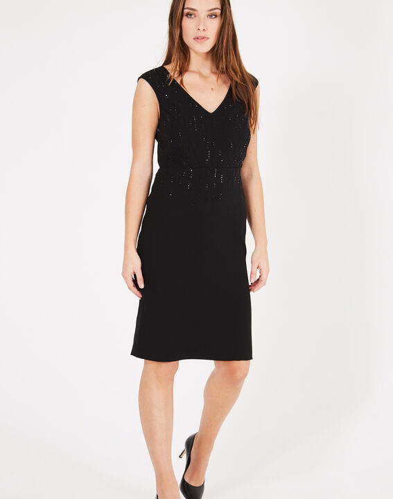 Gamma black dress with diamanté detailing PhotoZ | 1-2-3