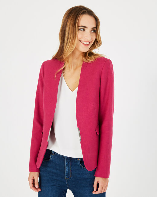 Claire fuchsia tailored jacket (2) - 1-2-3