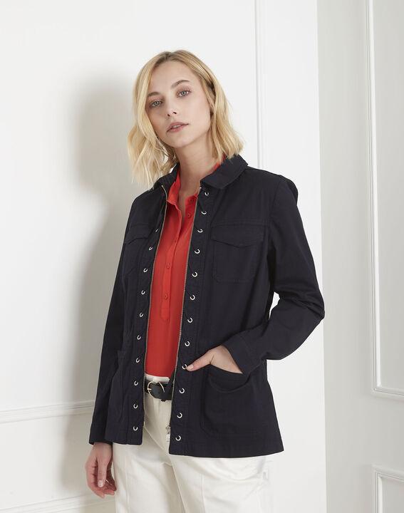 Veste marine en coton à poches Folly PhotoZ   1-2-3