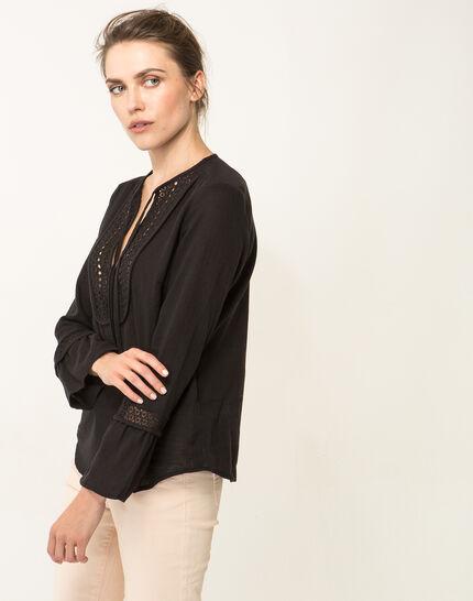 Edelys black cotton blouse (5) - 1-2-3