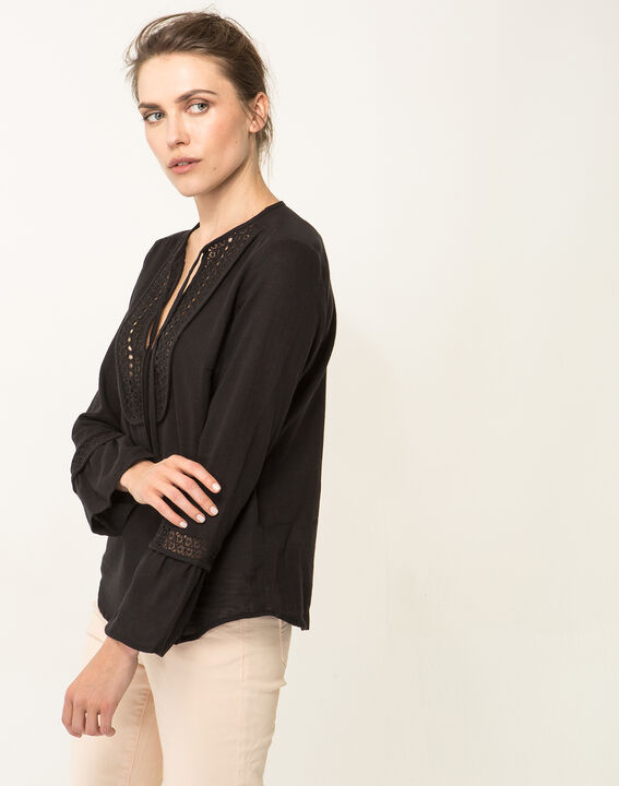 Edelys black cotton blouse (5) - 1-2-3