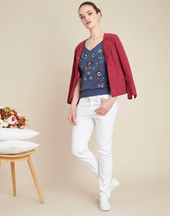 Nouette blue floral printed sweater (2) - 1-2-3