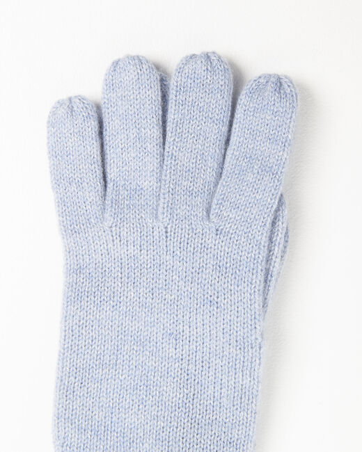 Gants bleu azur en cachemire Ustavio (2) - 37653