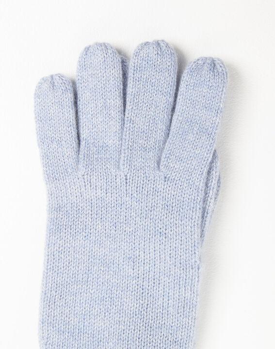 Ustavio azure blue cashmere gloves (2) - 1-2-3