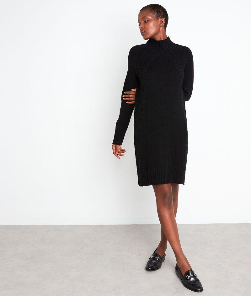 Robe en laine responsable et cachemire noire Sabine PhotoZ | 1-2-3