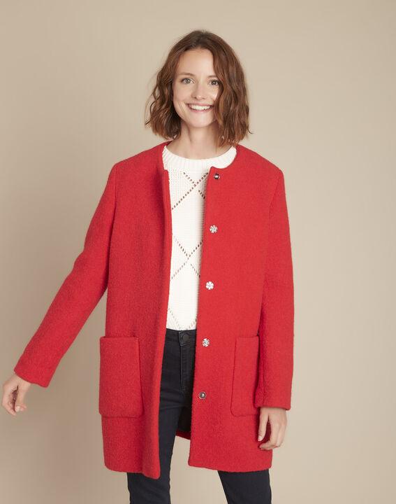 Manteau en laine rouge Emma PhotoZ | 1-2-3