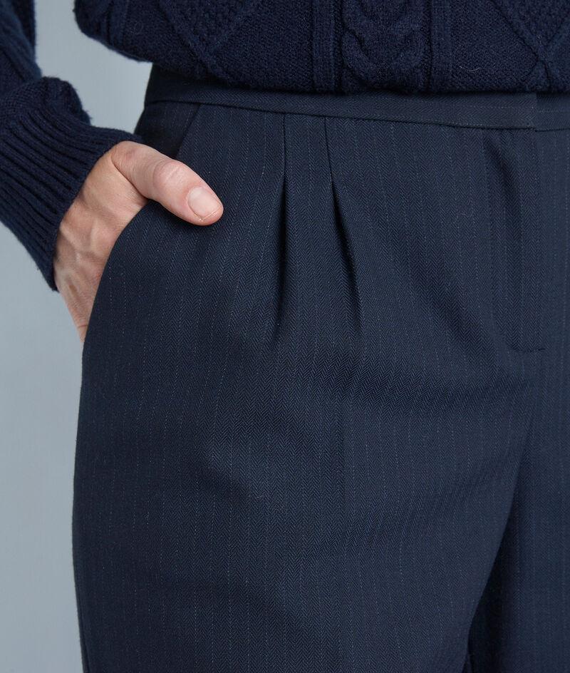 Pantalon large à fines rayures marine Galaxy PhotoZ   1-2-3