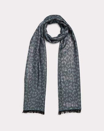 Foulard argenté etincelle gris pale.