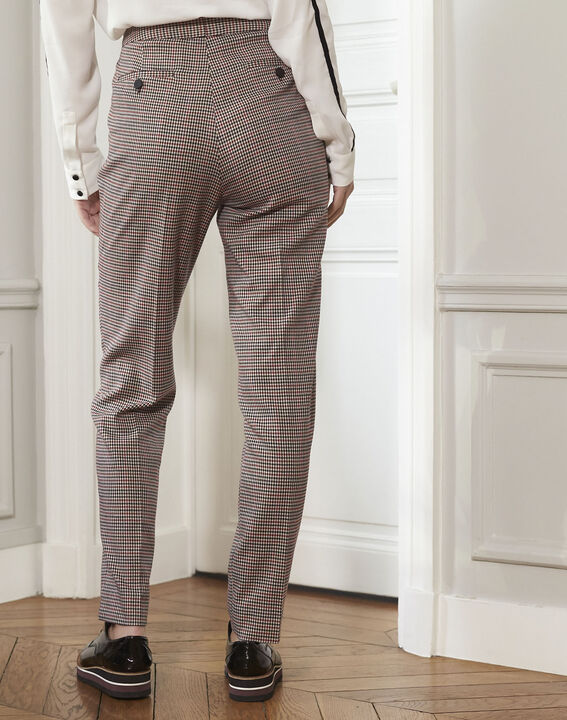 Harry red cigarette trousers with houndstooth pattern (4) - 1-2-3