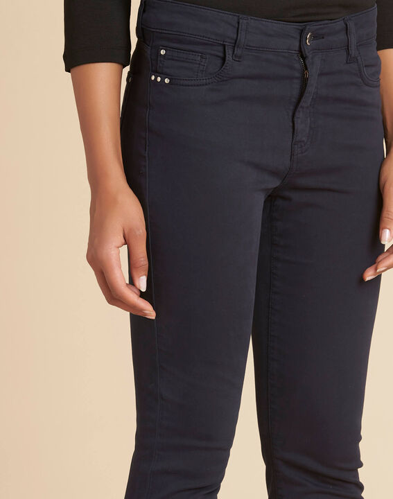 Marineblaue Slim-Fit-Jeans normale Leibhöhe Vendome PhotoZ | 1-2-3