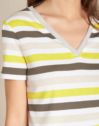 Embruns khaki striped t-shirt kaki.