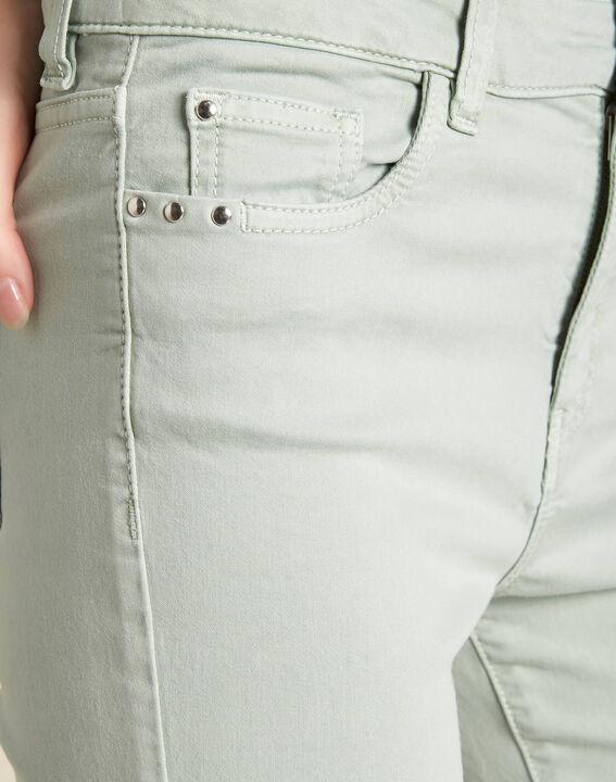 Amandelkleurige verwassen slim fit jeans met normale taille Vendôme PhotoZ | 1-2-3