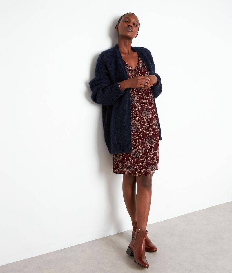Robe courte imprimée bordeaux Syrine  PhotoZ | 1-2-3