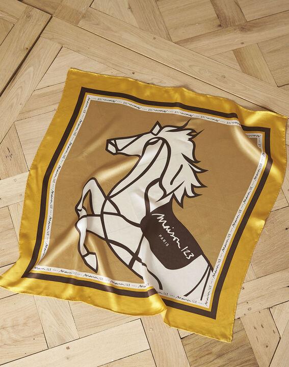 Carré en soie imprimé cheval Genia PhotoZ   1-2-3