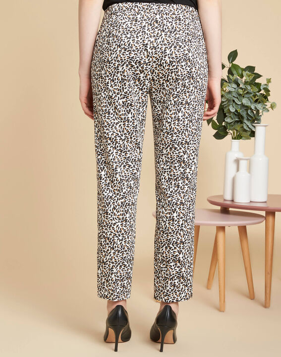 Rubis camel printed trousers (4) - 1-2-3
