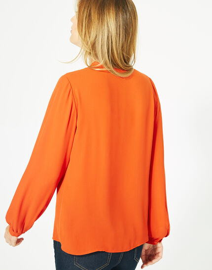 Doris orange blouse with long sleeves (5) - 1-2-3