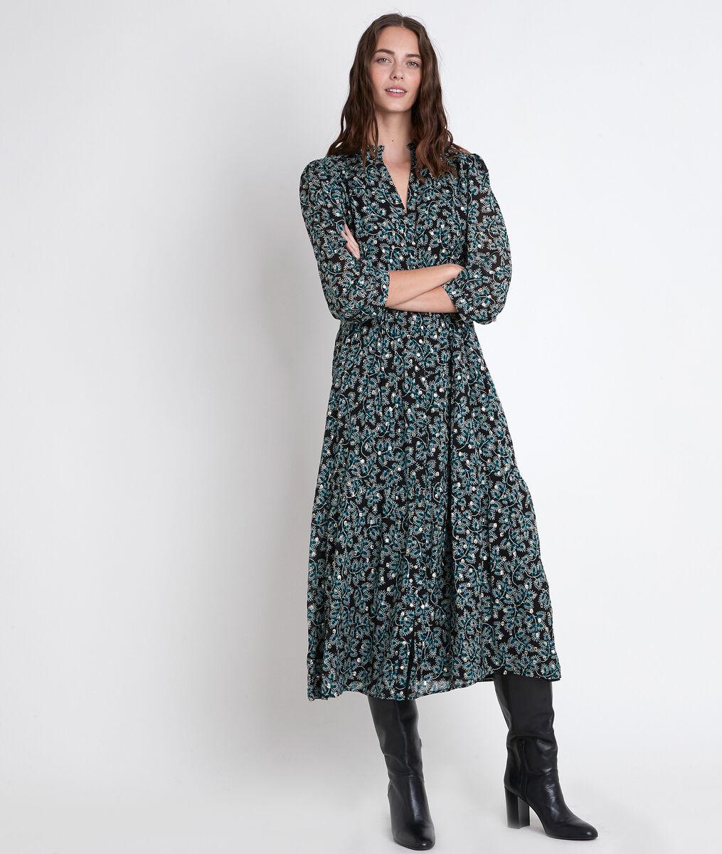 Robe longue cyprès imprimée Carola PhotoZ | 1-2-3