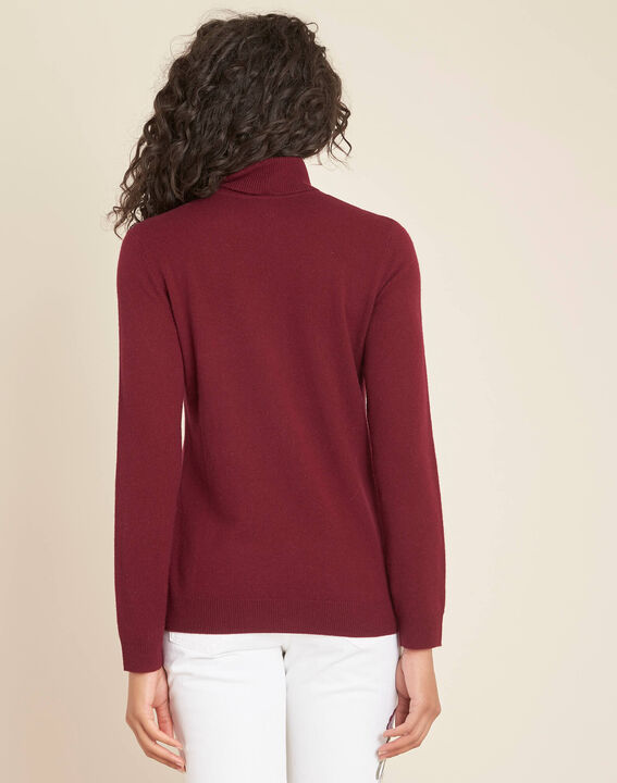 Perceneige burgundy polo-neck cashmere sweater (4) - Maison 123