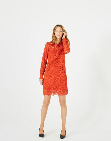 Robe orange en dentelle Amazone (3) - 1-2-3
