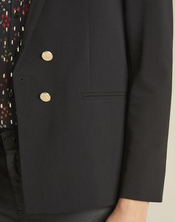 Soho black jacket with gold-look buttons (3) - 1-2-3