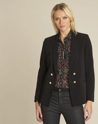 Soho black jacket with gold-look buttons black.