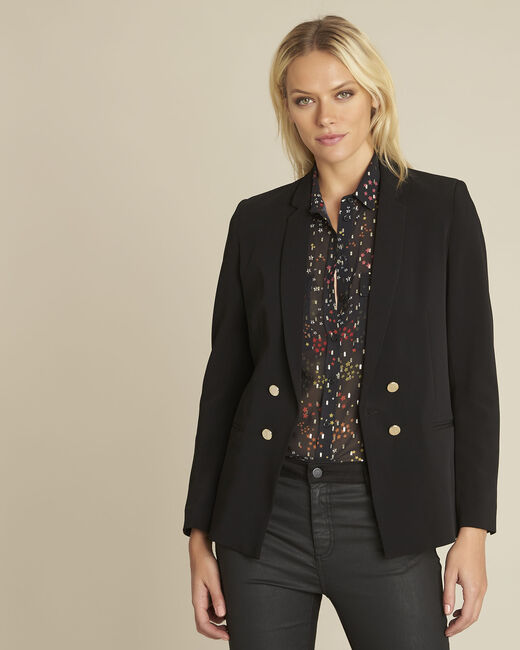 Soho black jacket with gold-look buttons (2) - 1-2-3