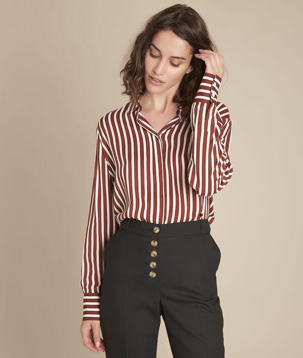 Mahonie gestreept overhemd Vanessa PhotoZ | 1-2-3