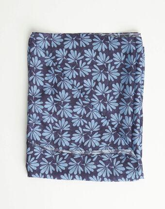 Blaues halstuch mit blumenprint annick blau.
