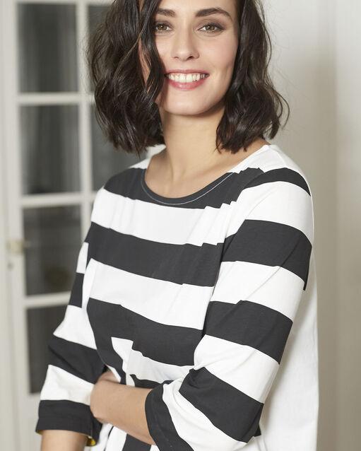 Tee-shirt noir à rayures Galinette (2) - 1-2-3
