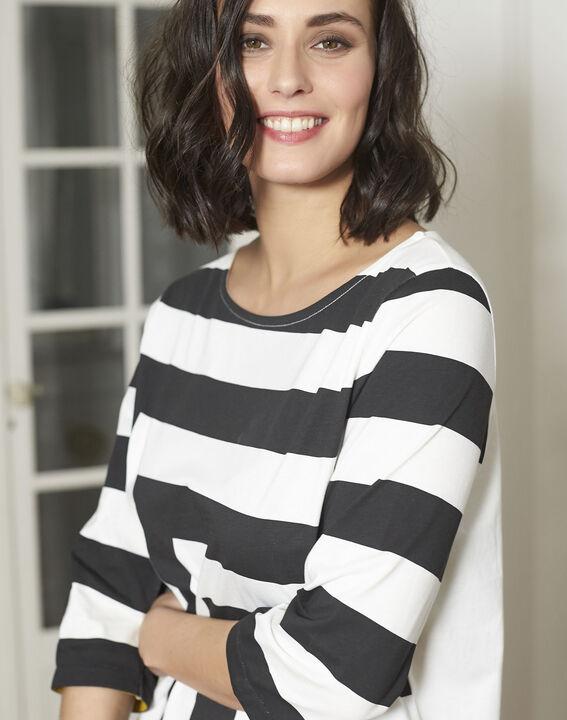 Tee-shirt noir à rayures Galinette (3) - Maison 123