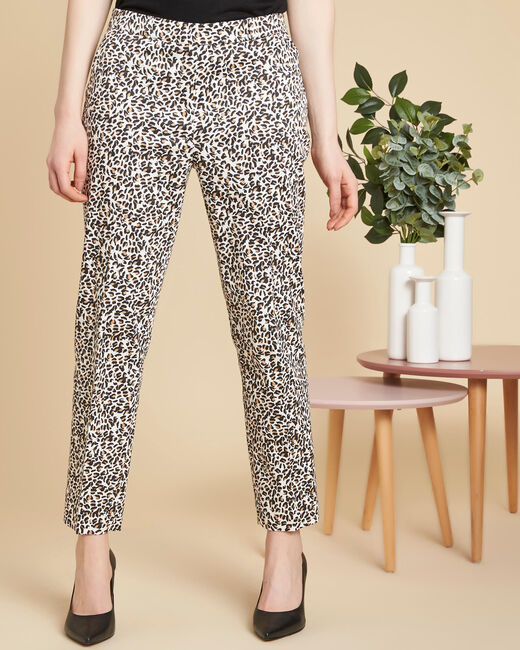 Rubis camel printed trousers (2) - 1-2-3
