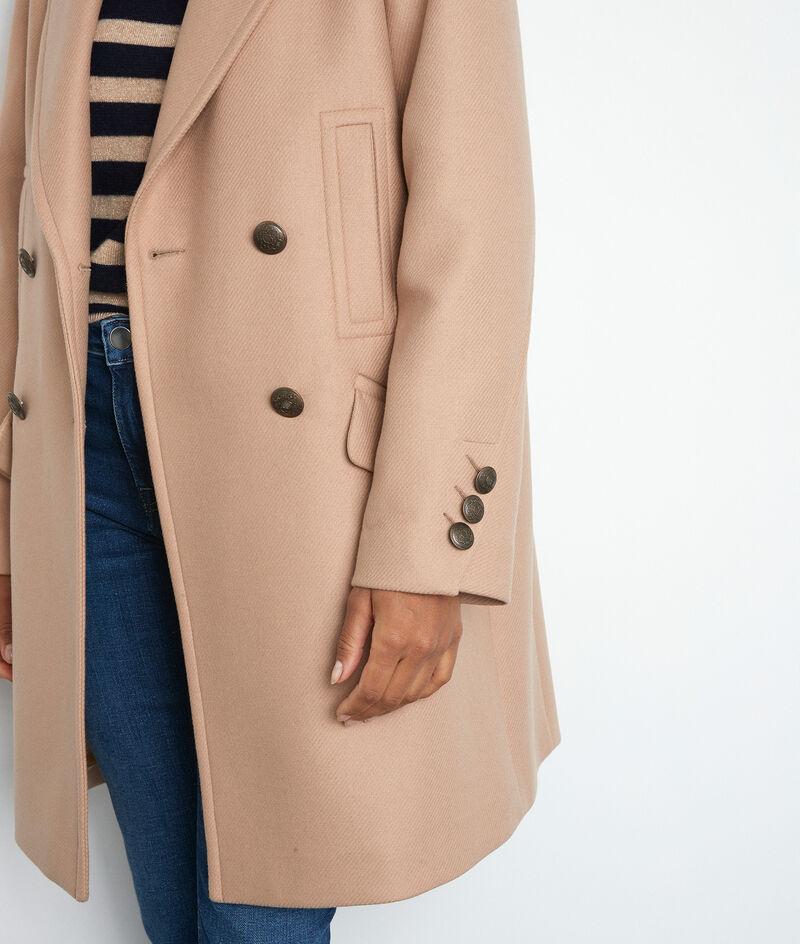 Langer Mantel zweireihig beige Lee PhotoZ | 1-2-3