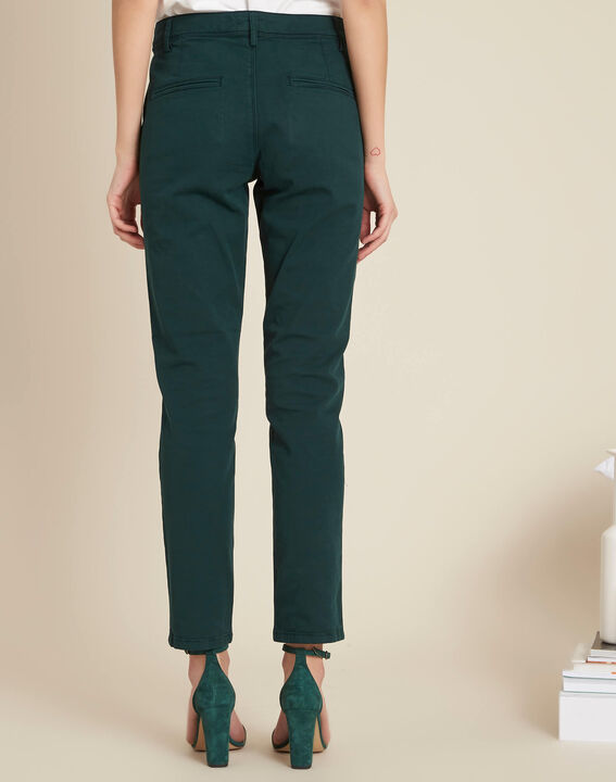 Pantalon vert foncé chino Jacob (4) - 1-2-3