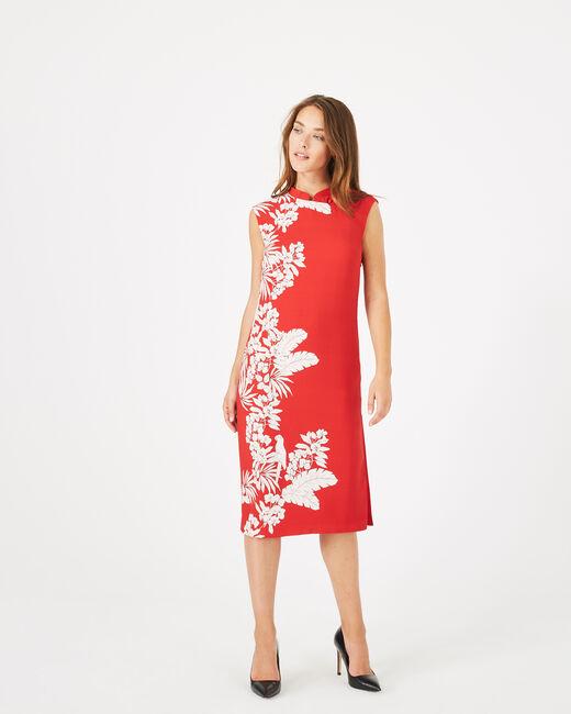 Rotes Print-Kleid Asmar (2) - 1-2-3