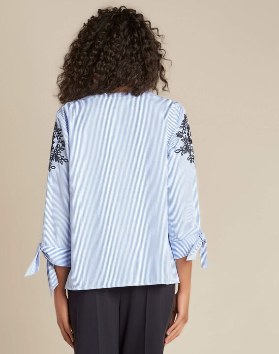 Gabel embroidered striped blouse (4) - 1-2-3