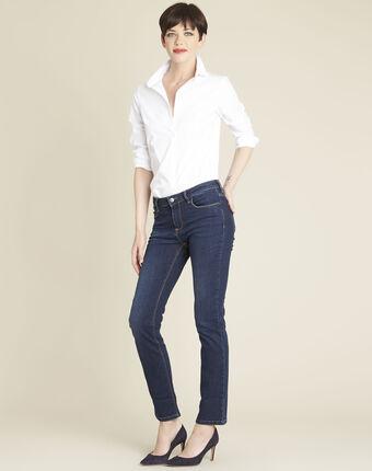 Indigoblaue gerade jeans vivienne dunkles indigoblau.
