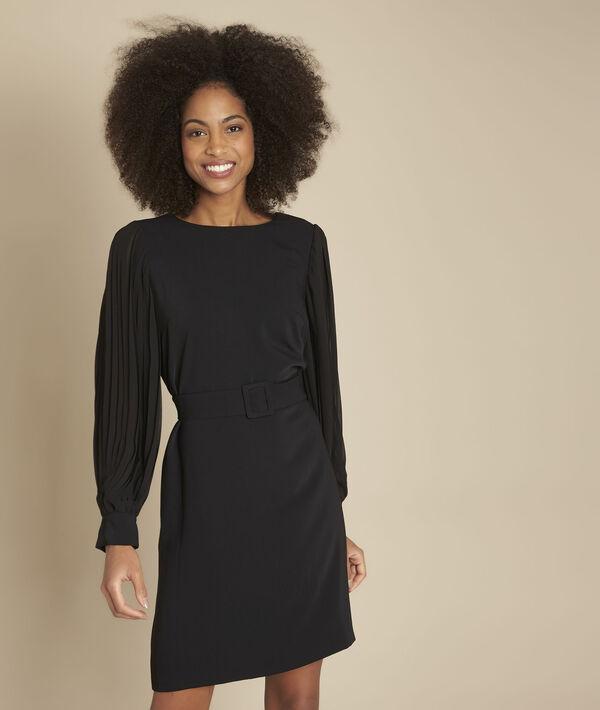Robe noire ceinturée Roxane PhotoZ | 1-2-3