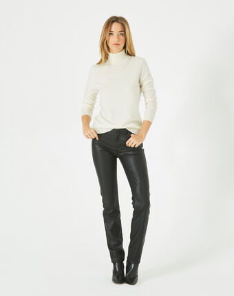 Pantalon noir slim faux cuir william noir.