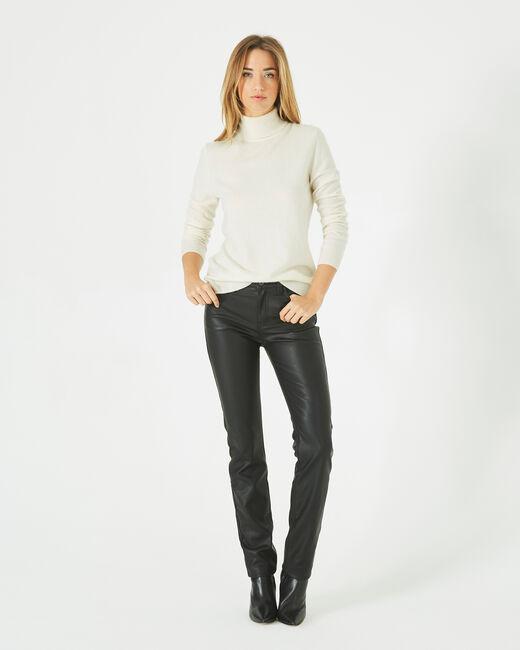 Pantalon noir slim faux cuir William (1) - 1-2-3