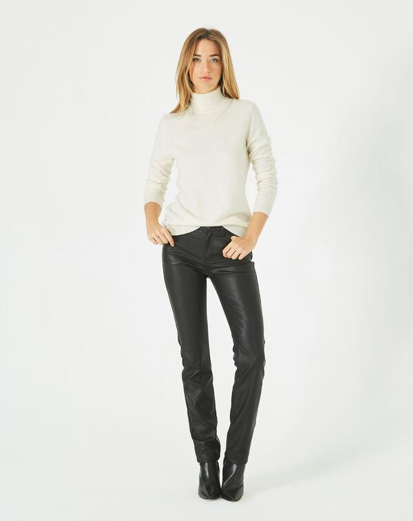 Pantalon noir slim faux cuir william à