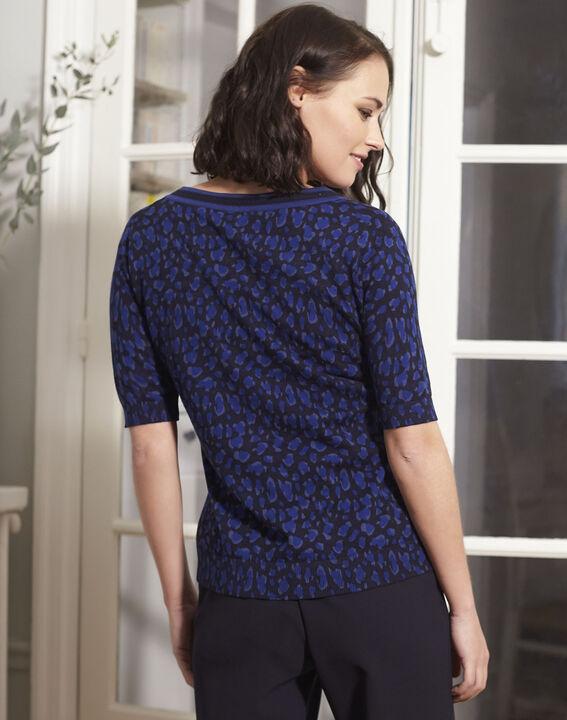 Baobab short-sleeved printed navy sweater (4) - 1-2-3