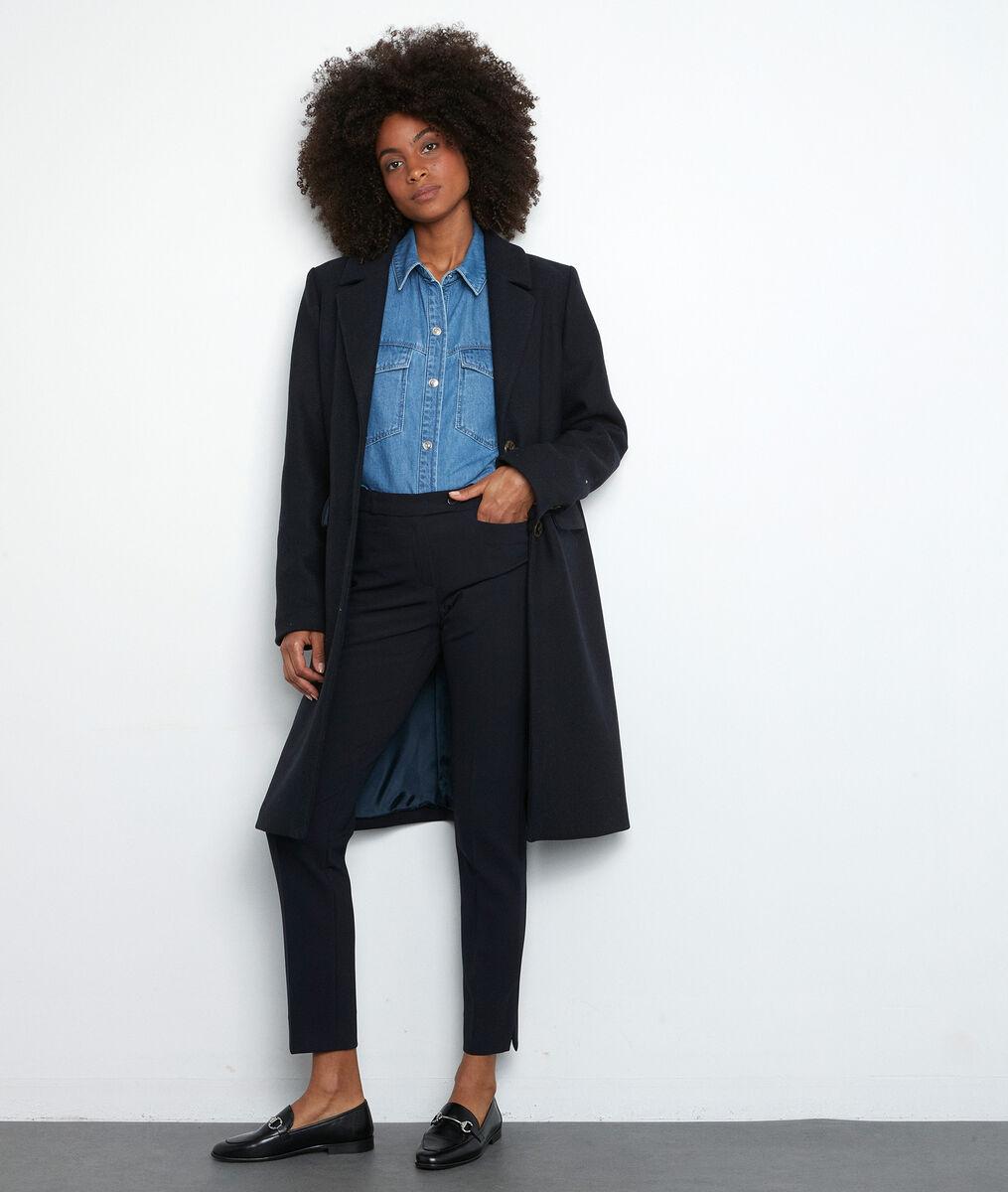 Pantalon de tailleur ajusté marine Valero PhotoZ | 1-2-3